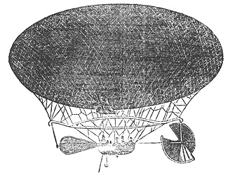 Woodcut of The Victoria Steering Balloon