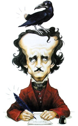 Poe Caricature by Marco Martellini