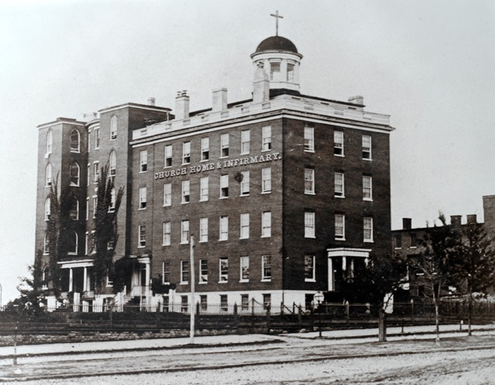 Hospital where Poe died