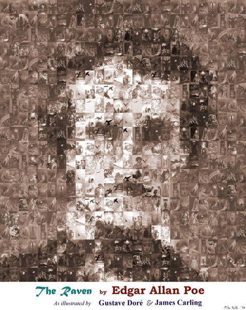 Poe Mosaic by Mike Keith