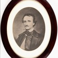 Poe photograph in oval frame